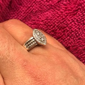 Diamond and Sterling silver ring size 8